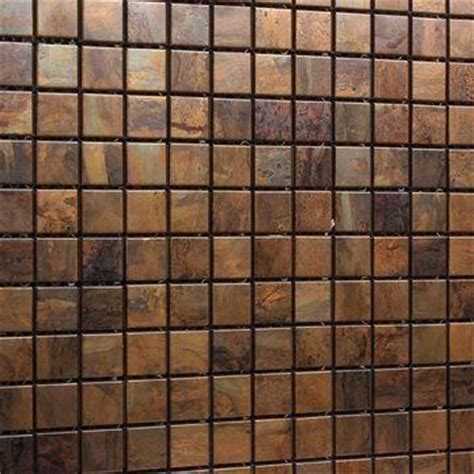 copper glass and porcelain square mosaic tile designs pure copper mosaic tiles made of pure copper over an