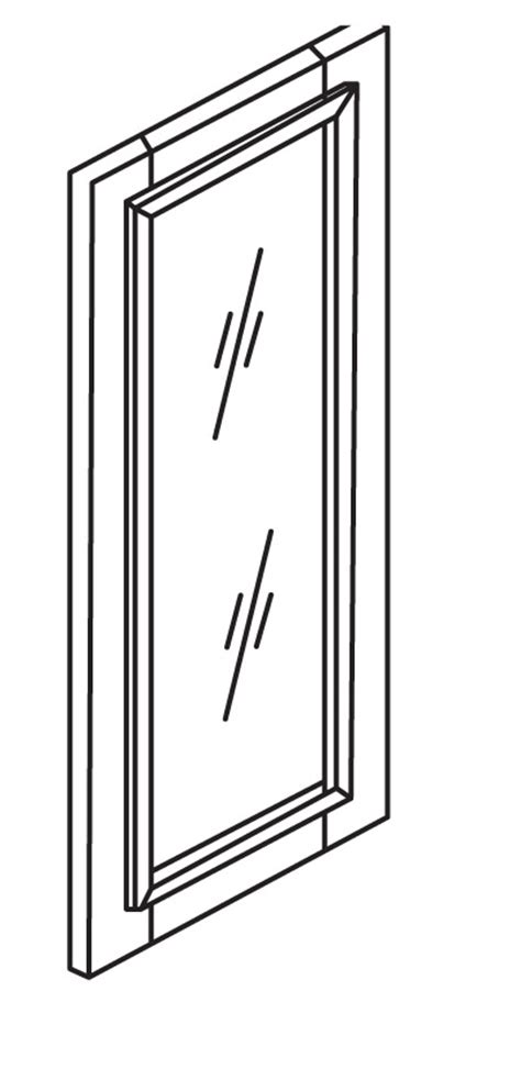 W1830gd Glass Doors Solid Glass Door Classic White Shaker Shaker Cabinet Doors With Glass