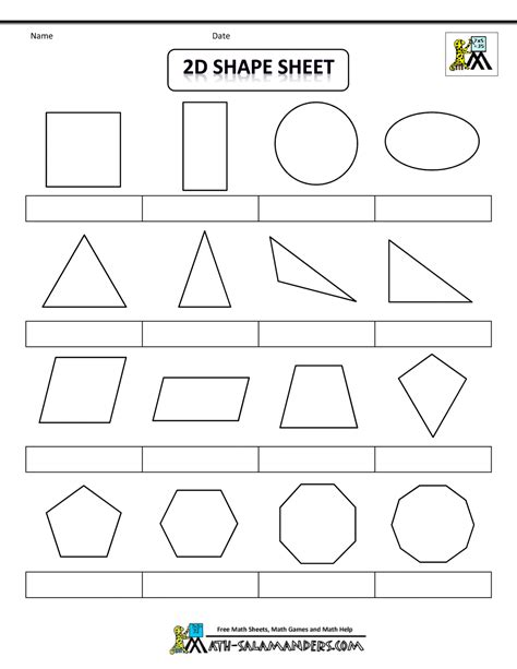 2d print printable shapes 2d and 3d