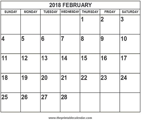 printable february 2018 calendar page 2018 february calendar printable coloring pages