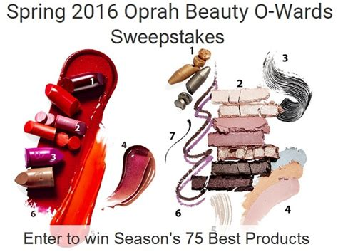 Oprah Sweepstakes 2016 - oprah beauty o wards sweepstakes sweepstakesbible