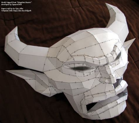 Mask Papercraft - chernabog mask papercraft build by eutytoalba on deviantart