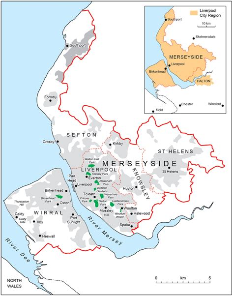 area map of map of liverpool area my