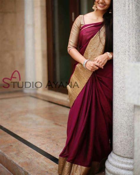 Simple Bordir Blouse 25 best ideas about silk sarees on silk saree