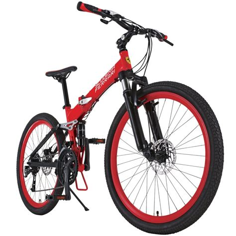 ferrari bicycle ferrari folding mountain bike bicycle red al fdb2627 w