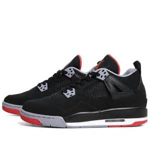 Nike air jordan iv retro g s black fire red amp cement grey