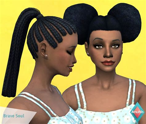 sims 4 girl hair braids status untested by anubis brave soul two children