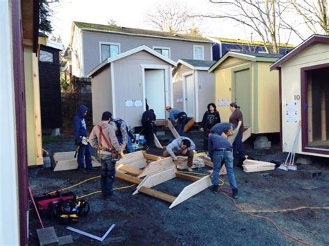 tiny house seattle us tiny house village for homeless opening in seattle