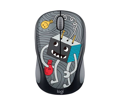 Logitech M238 Mouse Wireless Doodle Collection Sneakerhead logitech doodle collection m238 wireless mouse free 15 sticker inside 11street malaysia