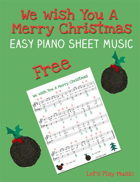 merry christmas easy piano  lets play