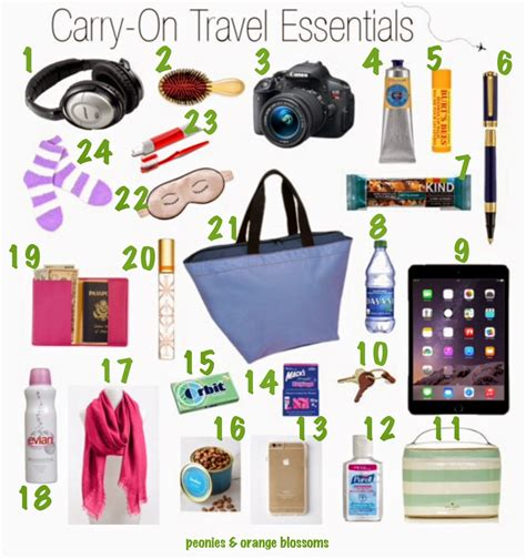 7 Things Not To Pack In Your Carry On by Peonies And Orange Blossoms What To Pack For Vacation In