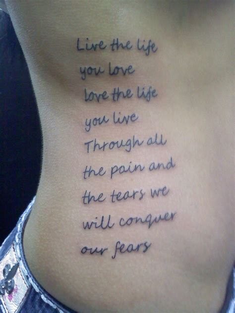 live the life you love tattoo live the you by missing direction on deviantart