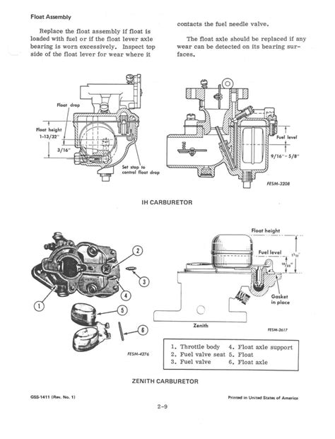 section 1411 adjustment section 2 fuel system