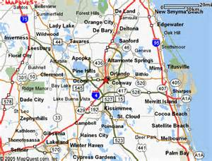 Orlando Highway Map by Map Of Florida Amp Florida Vacation Destinations
