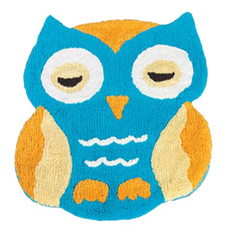 Retro Owl Themed Nursery Decor Retro Owl 100 Cotton Accent Rug Bath Mat Kid Bathroom Nursery Decor 3 Colors Ebay