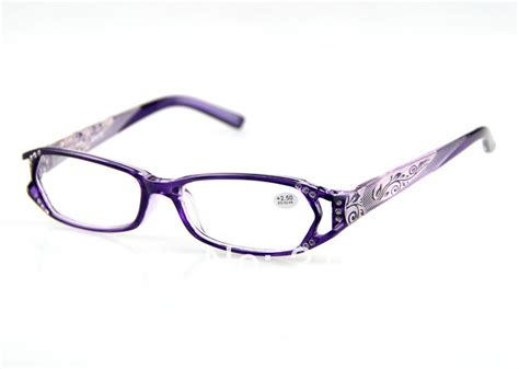 free shipping reading glasses purple flower