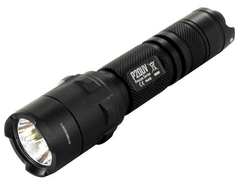 Nitecore P20uv Senter Led Uv Light Cree Xm L2 T6 800 Lumens Black nitecore precise p20 uv ultraviolet tactical flashlight cree xm l2 t6 led 365nm led 800