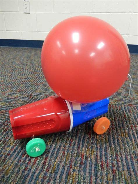 Balloon car races teen program sept 2013 http www stevespanglerscience com lab experiments