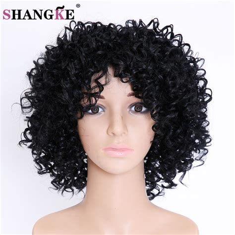affordable short spike wigs for black women short black wig cosplay afro synthetic short wigs for