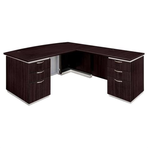 Assembled Office Desks Flexsteel Pimlico L Shaped Executive Desk Assembled 7020 47b