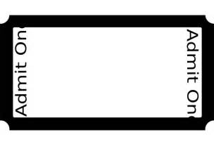 Blank Admit One Ticket Template by Admit One Ticket Template Clipart Best