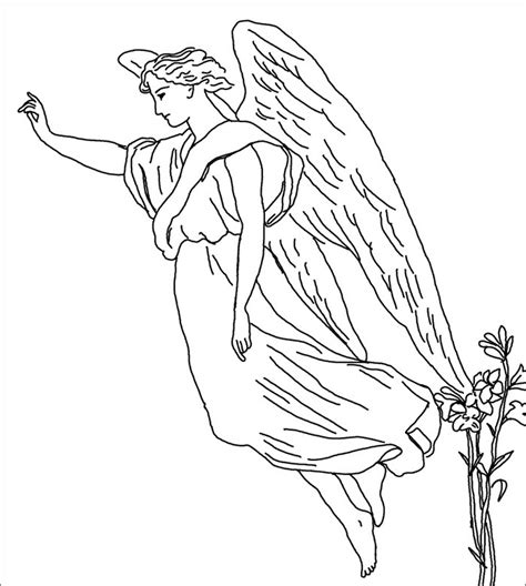 coloring book pages of angels free coloring pages of angel