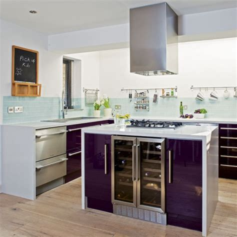 purple kitchens modern purple kitchen tour housetohome co uk