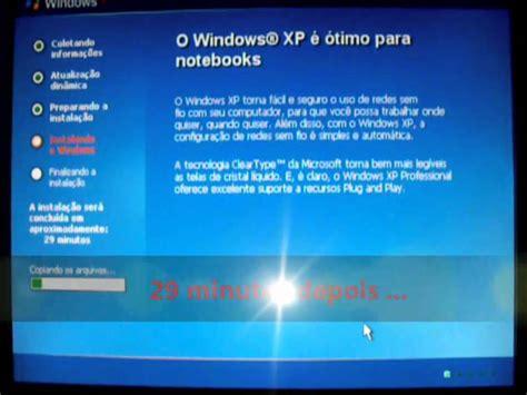 xp tutorial youtube como formatar e instalar o windows xp passo a passo