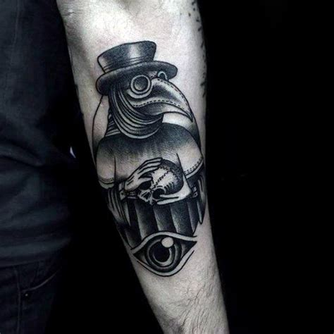 black plague doctor tattoos pictures to pin on pinterest