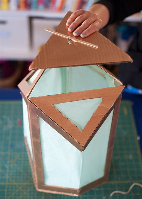 upcycled cardboard lanterns