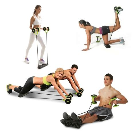 fitness ab rollers four wheels exercise equipment pull rope abdominal ab trainer waist