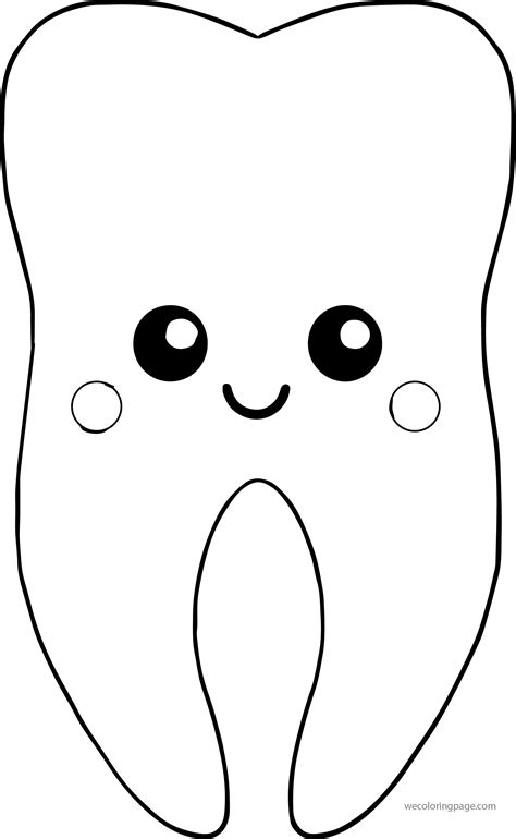 tooth coloring pages artcommission me