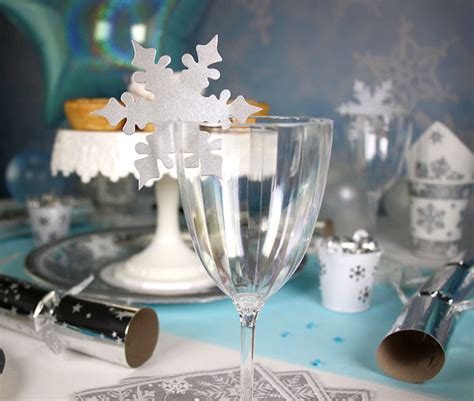snowflake table top decorations how to throw a magical winter