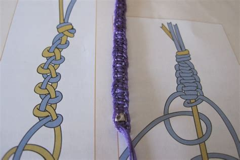 Macrame Finishing Knots - studio updates practicing new macrame knots handmade
