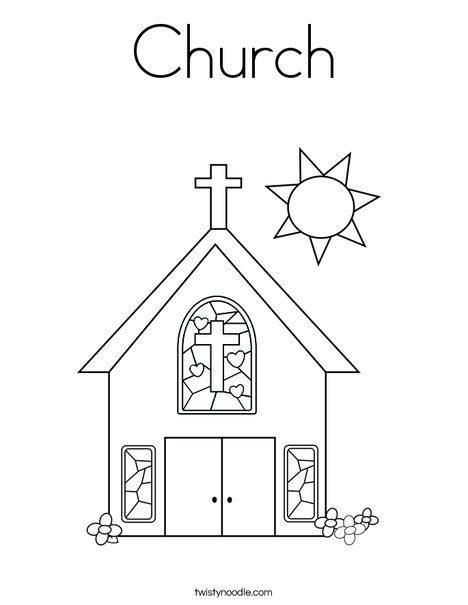 church template church coloring page twisty noodle