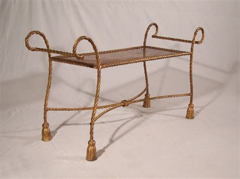window benches for sale 8392 vintage gilt iron rope twist window bench for sale antiques com classifieds