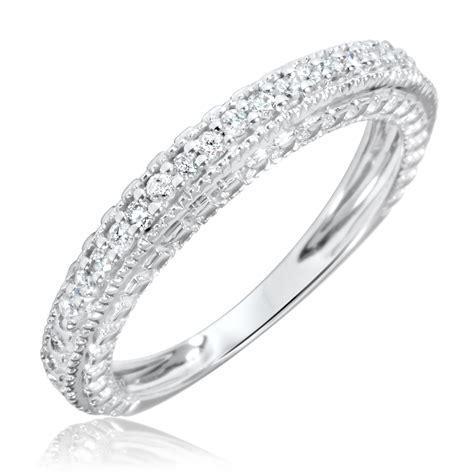 1 5 carat t w s wedding ring 10k white gold