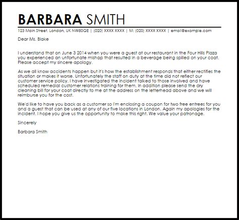 Letter Of Apology Regarding Bad Service Apology Letter For Bad Service Apology Letters Livecareer