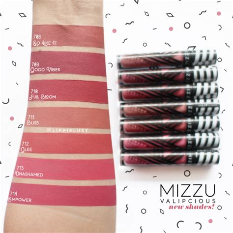 Mizzu Lip updated mizzu cosmetics valipcious velvet matte swatches