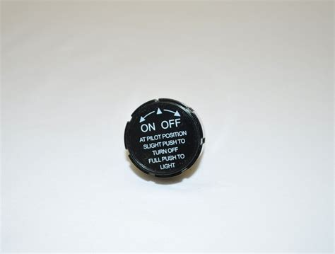 hearth products controls black safety pilot knob