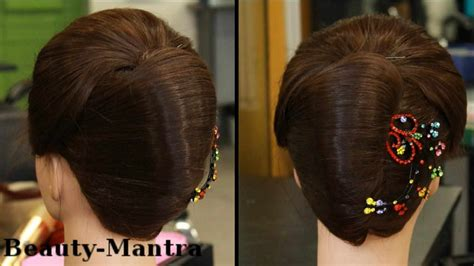 bridal juda hairstyle step by step indian bridal simple indian hairstyles for medium hair step by step