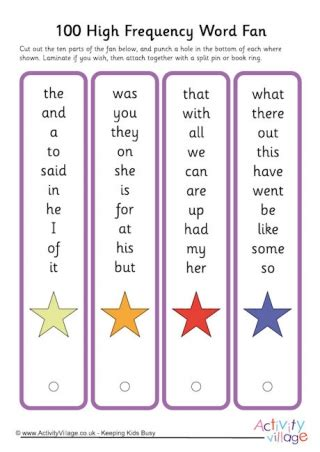 printable flashcards high frequency words high frequency words