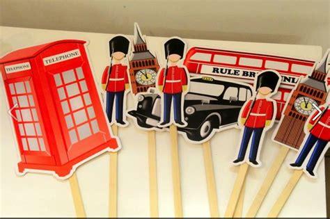 london theme birthday party england queen union jack flag cupcakes cakes cake cake pops