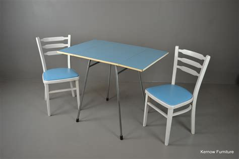 blue kitchen table set retro blue formica table chairs set ebay