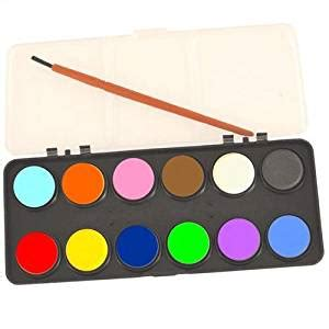 watercolour paint set 12 colours with brush craft co uk toys