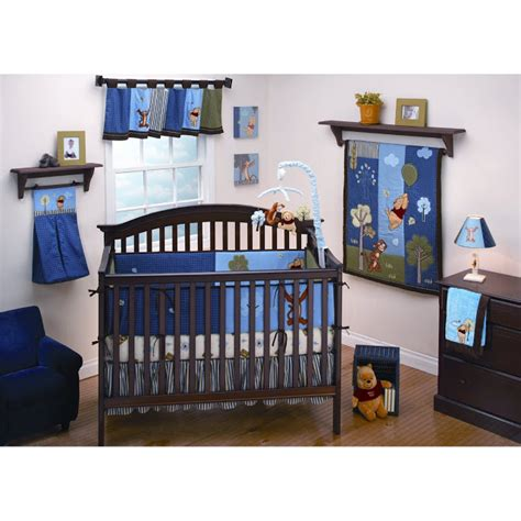 Blue Crib Sets by Nursery Room Ideas Winnie The Pooh Crib Bedding Set