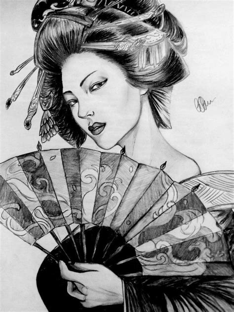 tattoo geisha realista geisha by hikaritenshi91 deviantart com on deviantart