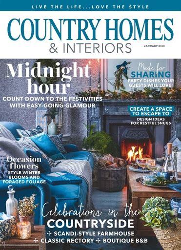 country homes interiors magazine january 2018
