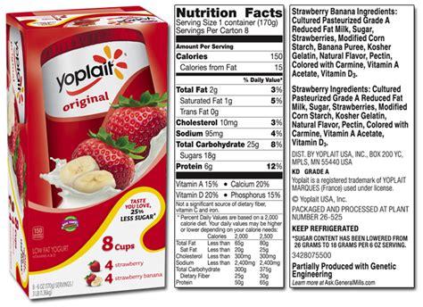 yoplait light yogurt ingredients yoplait product list