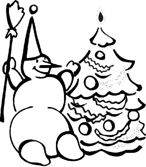 Tree And Snowman Coloring Pages Snowman Coloring Book Page Snowman With Christmas Tree by Tree And Snowman Coloring Pages